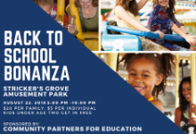 The Back to School Bash is being held on August 22, 2019