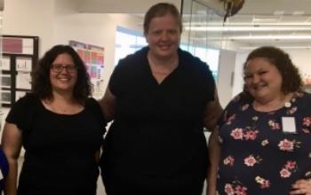 (Left-Right) CHS Teachers Elizabeth Walton, Leslie Klein, Lynn Joseph at the MEET Reception