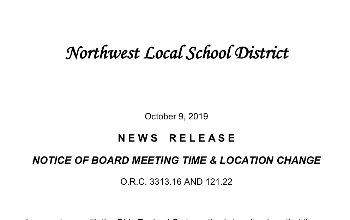 Board Meeting Change 10/28