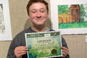 NWHS Junior Wins Second Place in the 2020 Plein Air Student Art Competition