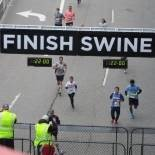 Runners crossing the finish line