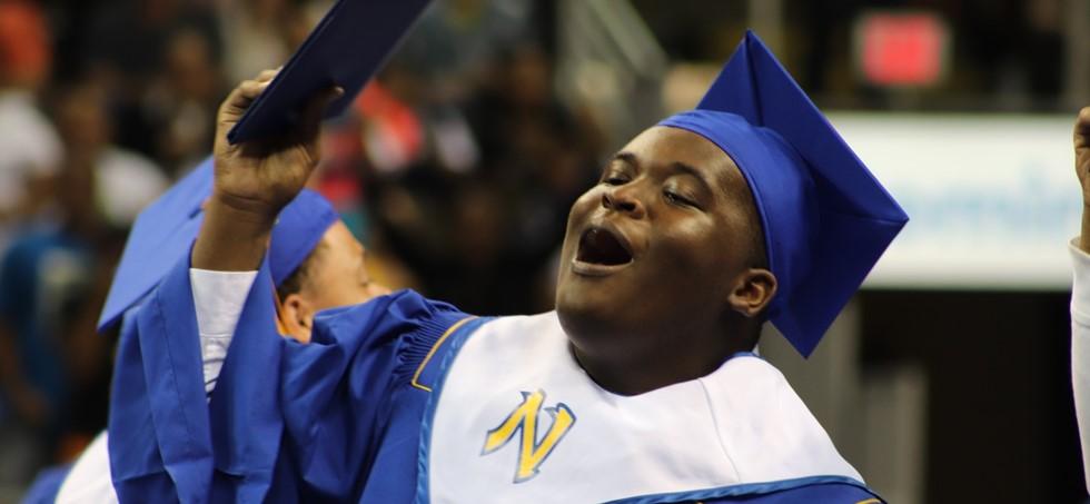 NWHS graduate celebrating