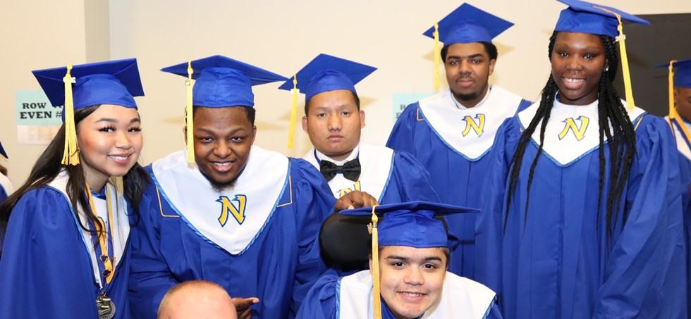 NWHS graduates smiling