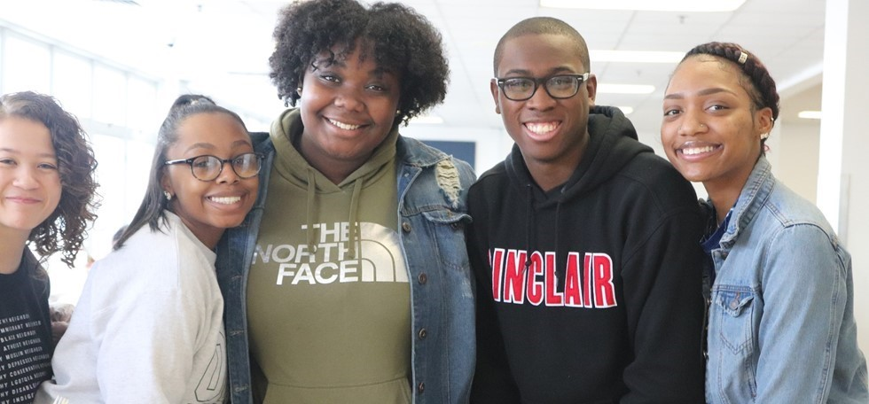 Five NWHS Students smiling