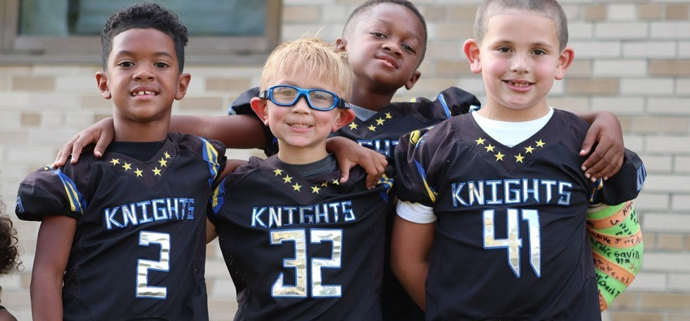 Pleasant Run Elementary Football Players