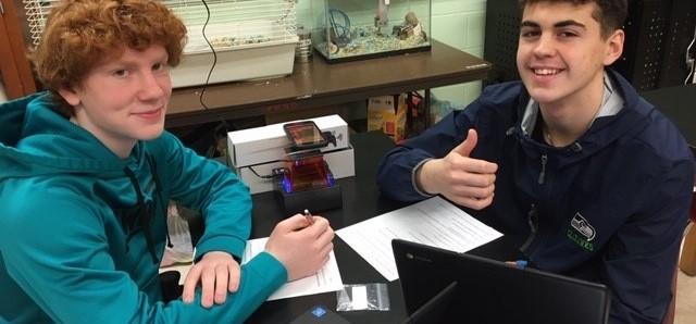 Northwest Online School two students